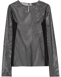 Tom Ford Stretch Mesh Top Black