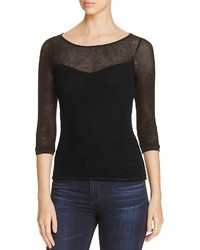 Three Dots British Mesh Top