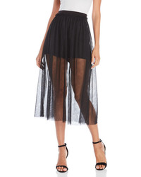 Black mesh midi skirt medium 6834233