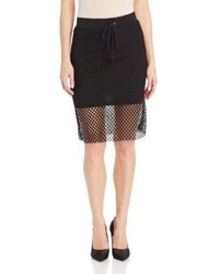 Shores mesh hem pencil skirt medium 78613