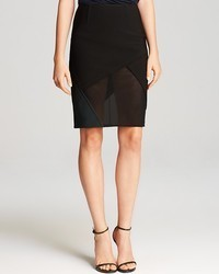 Skirt black mesh pencil medium 78612