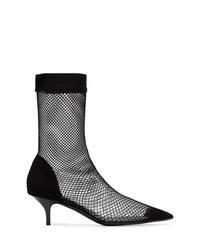 Stella McCartney Black Fishnet 70 Sock Pumps