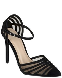 Journee Collection Fancy Ankle Strap Mesh Pumps