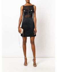 Versace Vintage Sheer Panel Mini Dress