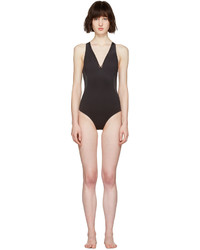 Stella McCartney Black Neoprene Mesh Swimsuit