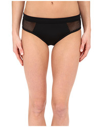 DKNY Mesh Effect Mesh Splice Hipster Bottom