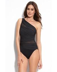 Miraclesuit jena one shoulder one piece swimsuit medium 271612