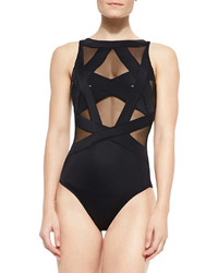 Oye Swimwear Esther Strappy Mesh One Piece Swimsuit