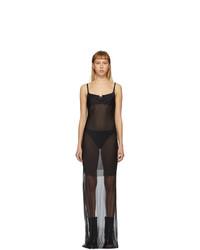 Ann Demeulemeester Black Godetia Ribbon Slip Dress