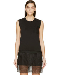 Black mesh back tank top medium 672952