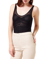 Miss Selfridge Mesh Sleeveless Bodysuit