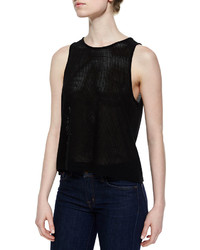 Rag and Bone Rag Bonejean The Atlantis Mesh Tank Black