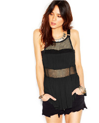 Free People Snap Out Of It Rings And Things Mesh Tank