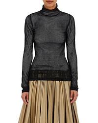 Loewe Mesh Mock Turtleneck Sweater Black