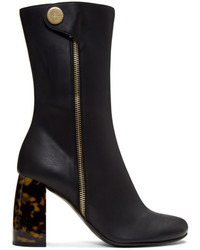 Stella McCartney Black Side Zip Heeled Boots