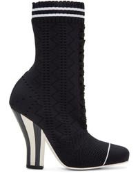 Fendi Black Stretch Sock Boots