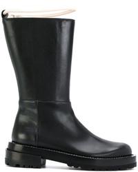 Marni Contrast Strap Mid Calf Boots
