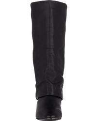 ff96e572beea ... See by Chloe Cuffed Wedge Mid Calf Boots Black ...