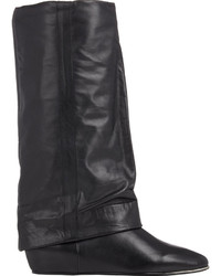 See by Chloe Cuffed Wedge Mid Calf Boots