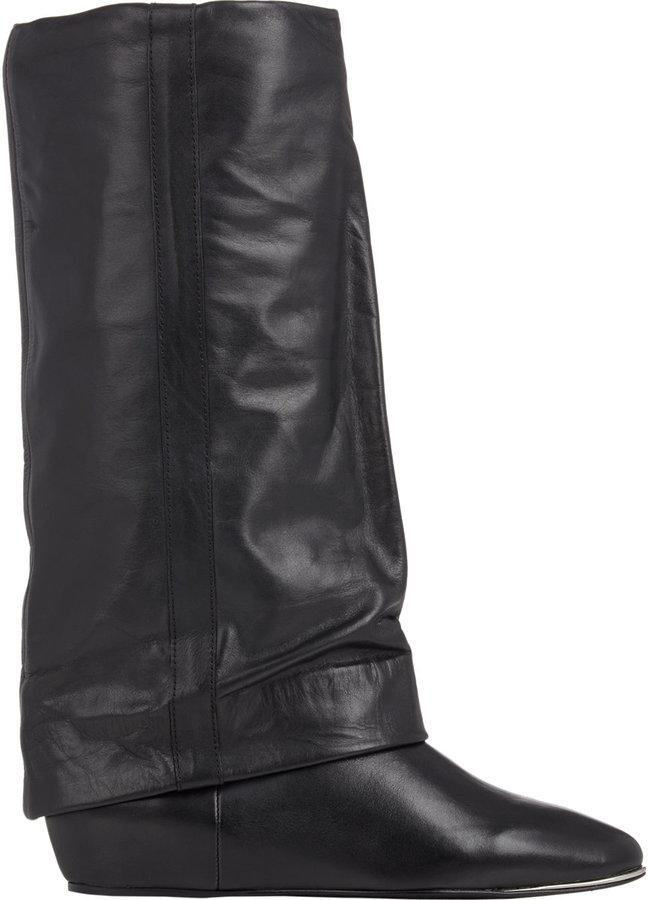 65e13902c73b ... See by Chloe Cuffed Wedge Mid Calf Boots ...