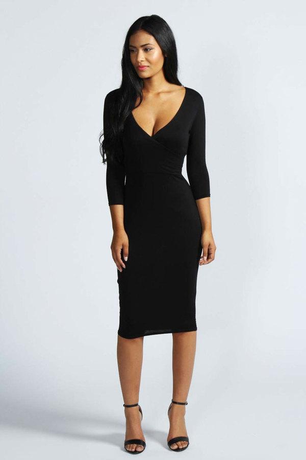 Купить черное платье миди earth gear куртка пуховая женская