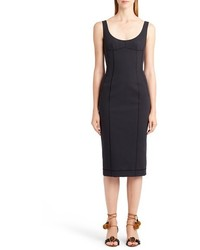 Dolcegabbana seamed scuba midi dress medium 1195809