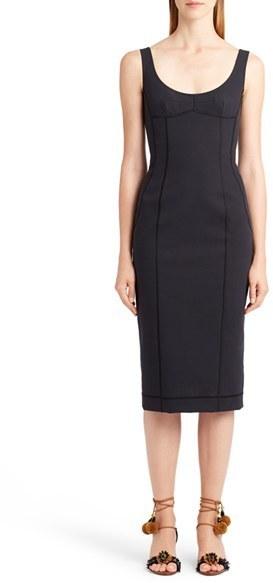c560774b67a ... Black Midi Dresses Dolce   Gabbana Dolcegabbana Seamed Scuba Midi Dress  ...