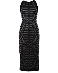 Balmain Embossed Detail Midi Dress
