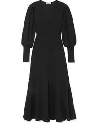 Beaufille Flora Ribbed Cotton Blend Midi Dress