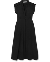 IRO Hurray Ruffled Stretch Crepe Midi Dress