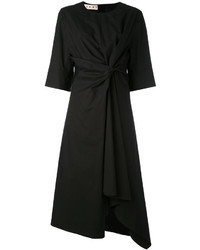 Marni Knot Front Asymmetric Midi Dress
