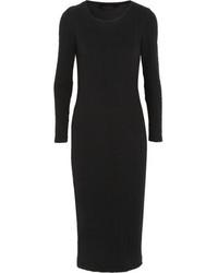 Karl Lagerfeld Nila Cotton Blend Cloqu Midi Dress