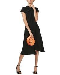 Topshop Origami Drape Neck Midi Dress