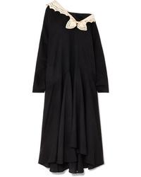 Gucci Oversized Med Crepe Midi Dress