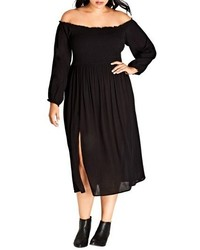 Plus size vintage midi dress medium 4913430