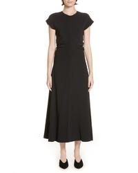 Rosetta Getty Ruched Stretch Cady Dress