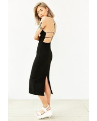 Silence & Noise Silence Noise Strappy Back Midi Dress
