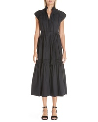 Proenza Schouler Smocked Poplin Dress