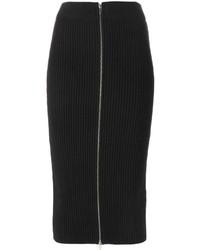 Alexander Wang T By Ribbed Knit Midi Skirt