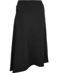 Vince Asymmetric Stretch Crepe Midi Skirt