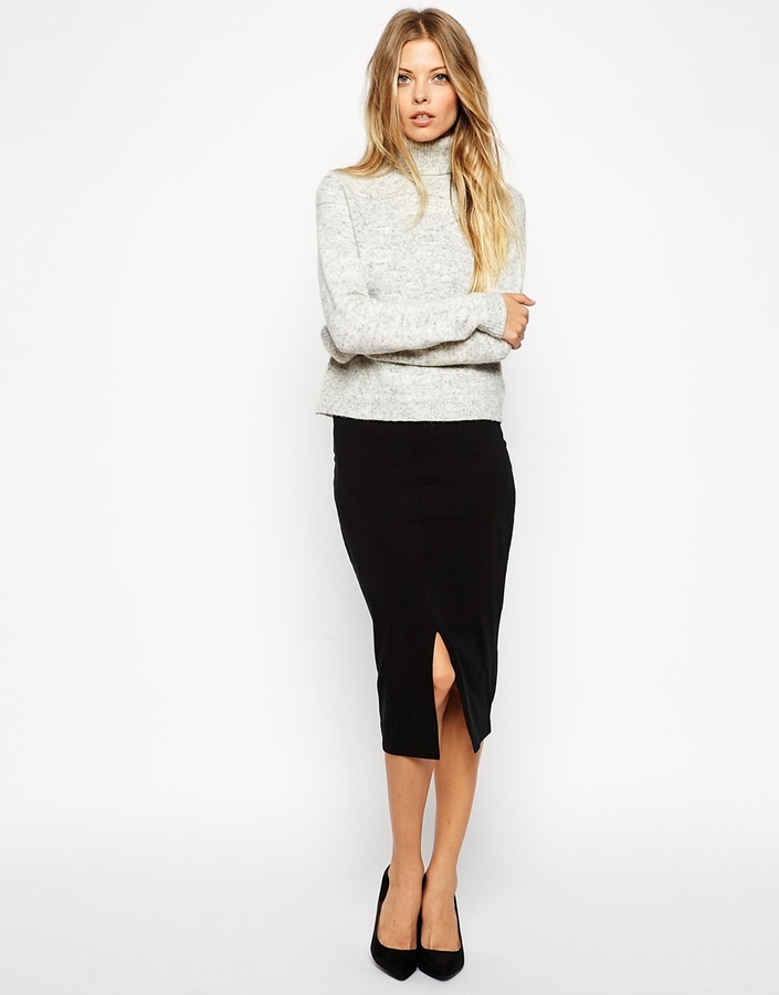 Asos Collection Midi Pencil Skirt With Front Split | Where to buy ...