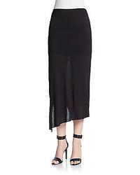 Helmut Lang Asymmetrical Overlay Midi Skirt