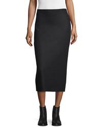 The Row Hilda Pencil Midi Skirt Black