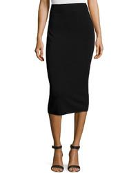 Michael Kors Michl Kors Fitted Knit Tube Skirt Black