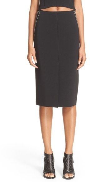 Rag & Bone Phoebe Back Zip Midi Skirt