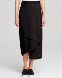 DKNY Pure Crepe Wrap Midi Skirt
