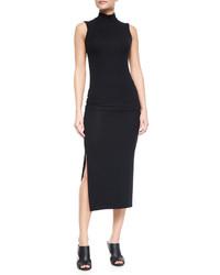 ATM Anthony Thomas Melillo Side Slit Knit Tube Skirt