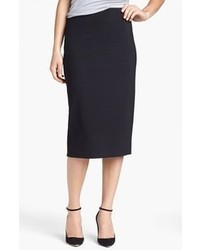 Vince Camuto Ponte Midi Skirt Rich Black Large