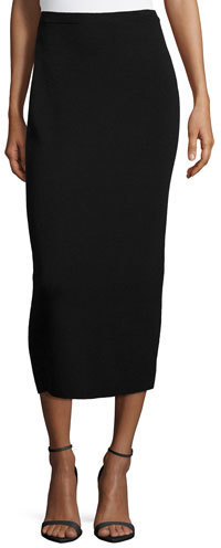 Eileen Fisher Washable Wool Midi Pencil Skirt Black | Where to buy ...
