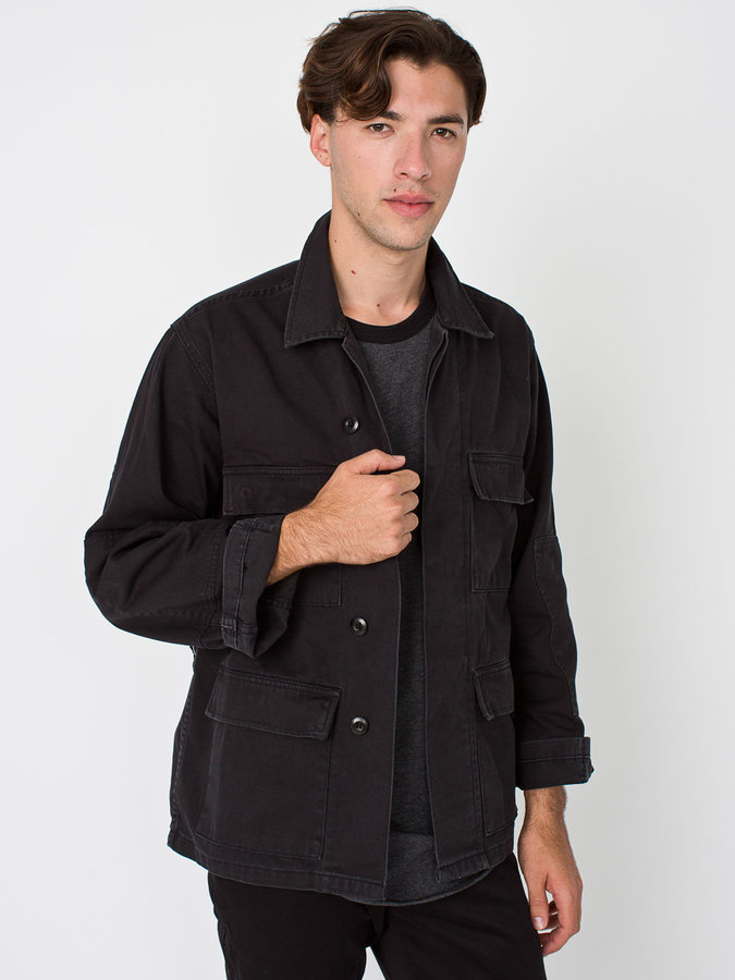 ac7129bac58a8 ... American Apparel Cotton Twill Military Jacket ...